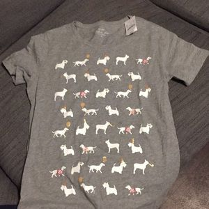NWT J.Crew Collection puppy party t-shirt, Small